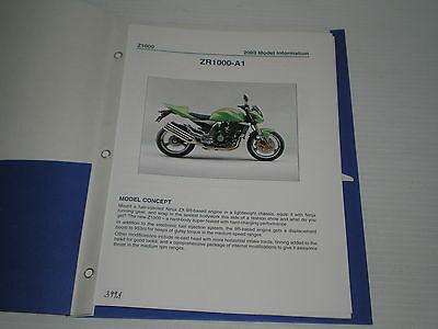 KAWASAKI ZR1000  2003  Dealer's Information  #399.4