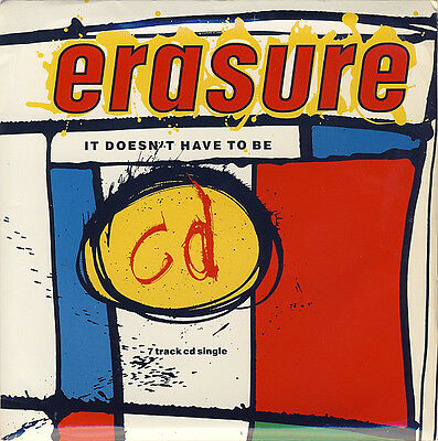 "Erasure, It Doesn't Have to Be, NEW/MINT CD single in 7"" size sleeve & GoPak"