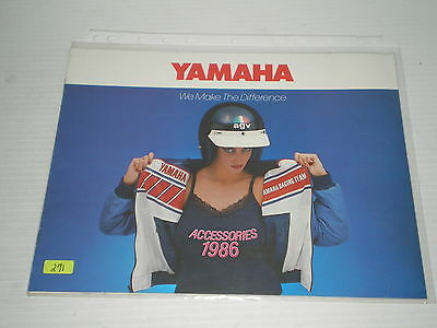 YAMAHA 1986  High Performance Clothing / Accessories  Sales Brochure #271