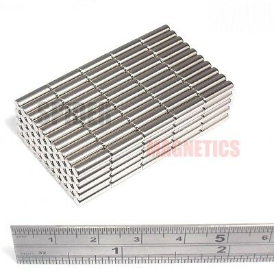 250 Magnet Rods 3x10 mm Neodymium small craft reed switch magnet 3mm dia x 10mm