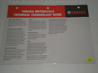 YAMAHA Motorcycle Technical Terminology Guide  #238