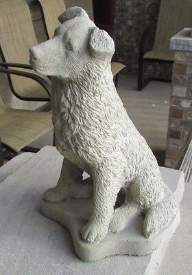 Concrete Border Collie Statue Or Use As A Memorial,,,,grave Marker
