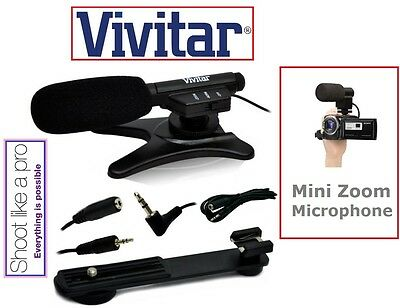 New Professional Mini Condenser Microphone For Canon Vixia HF 20