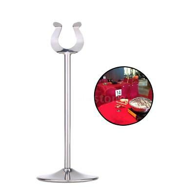 Table Menu Number Holder Stand Card Clip Stainless Steel Wedding Restaurant M9V9