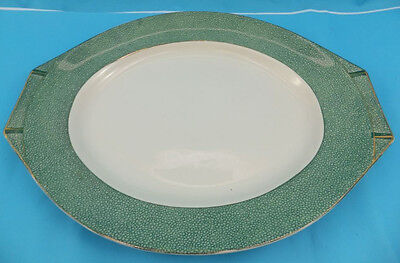 J & G Meakin Florida Lge Green And White Serving Plate Art Deco Style SOL 391413