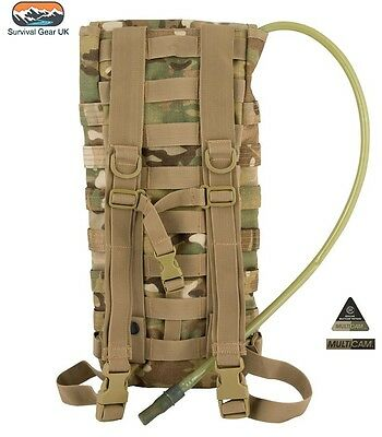Multicam Aqua Bladder 2.5 Litre Molle Water Carrier Mtp Hydration Army Hiking