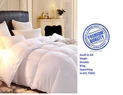 Brand NEW Soft Microfibre 100% Luxury Feels Like Down Duvet In ALL TOGS AND SIZE