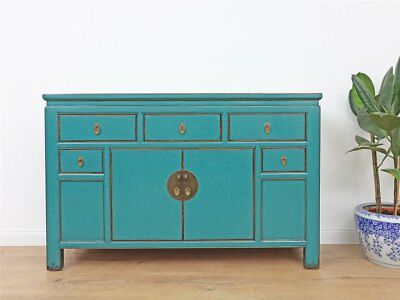 Chinesisches sideboard t rkis massivholz kommode anrichten for Kommode china