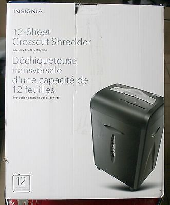 Insignia 12-Sheet Cross-Curt Shredder (Black) - Ns-Ps12Cc-C
