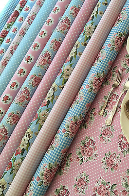 Waterproof Fabric Kitchen Tablecloth PVC vintage print WIPE CLEAN VINYL OILCLOTH