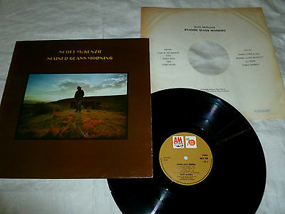SCOTT McKENZIE-stained glass morning '70 UK A&M LP ORIG+INN  PSYCH FOLK S/WRITER