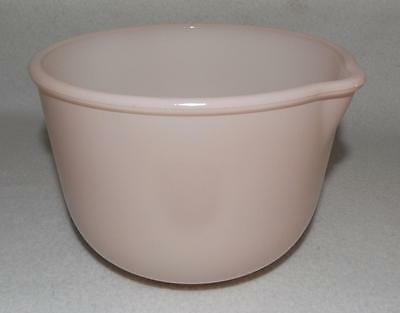 VINTAGE GLASBAKE 1950's PINK MIXING BOWL WITH SPOUT FOR SUNBEAM MIXER 20 CJ