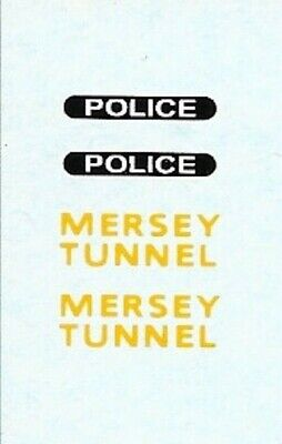 Dinky-Spares | Dinky 255 Landrover | Mersey Tunnel Police | Waterslide Transfer