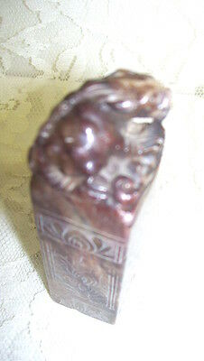 Antique Carved Chinese Stone Stamp Seal Gargoyle Figure