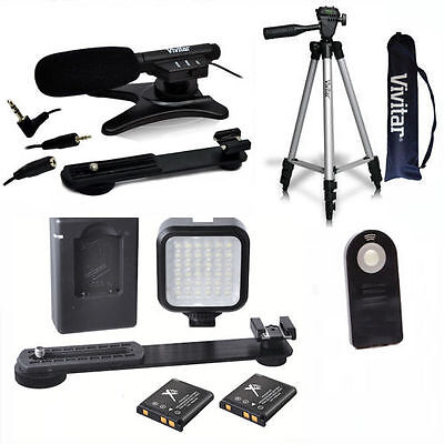 """50"""" Tripod + Microphone + Led Light System For Canon Eos Rebel T5I T6 T3I T4 T7"""