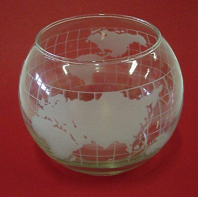 Nescafe World Map Clear Glass Floating Candle Bowl