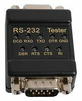 LINK TESTER, RS232/DB9 72-9265 - SYSIN06391 By TENMA