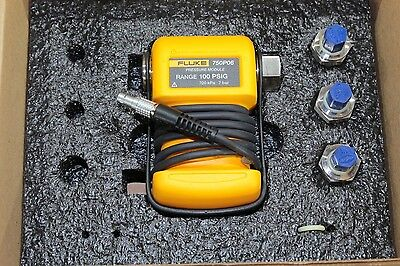 New Fluke 750P06 Gauge Pressure Module 0-100 psi 0-7 Bar 75X & 720 Calibrators