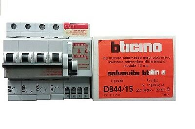 Bticino D844/15 Interrutt. Magnetotermico Limitatore Quadripolare Differenziale