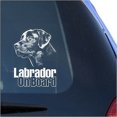Lab Labrador Retriever Clear Decal Sticker for Window Black Labs Dog Sign... NEW