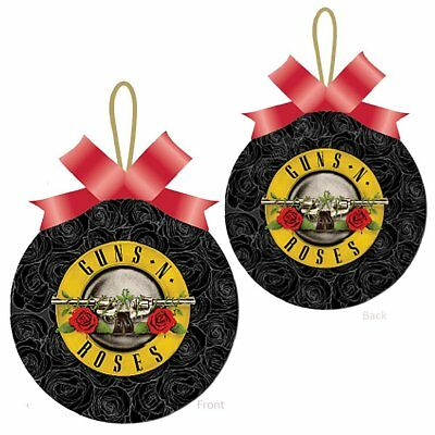 Guns N' Roses Collectible: GNR Roses & Pistols Bullet Logo Christmas Ornament