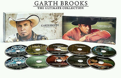 Garth Brooks 10 CDs The Ultimate Collection 10 Disc Box Set 18 NEW Tracks Songs
