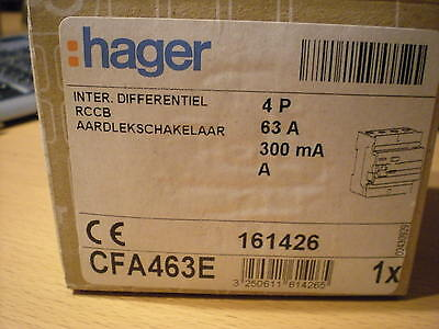 DIFFERENTIEL HAGER 4P 63A 300mA - NEUF