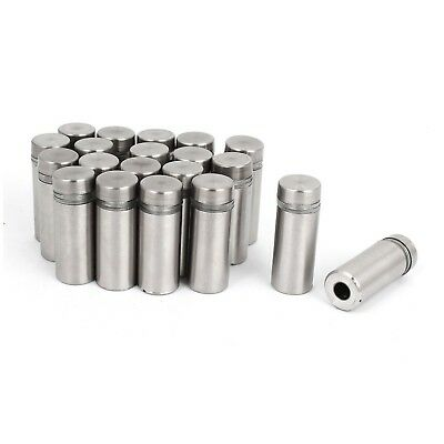 uxcell Stainless Steel Wall Mount Glass Standoff Holder Screw Nails 12 x ... NEW