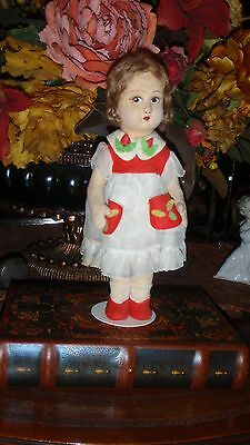 "Very Old Raynal or Lenci 11"" Girl Doll Wonderful Collectible"