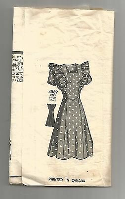 1940s Mail Order Anne Adams  #4569 Misses' ruffle type DRESS  sz18 B36 scarce