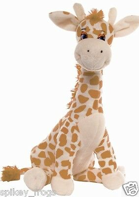 "*new* Brown Bright Coloured Giraffe ""gerry"" Soft Plush Toy 35Cm"