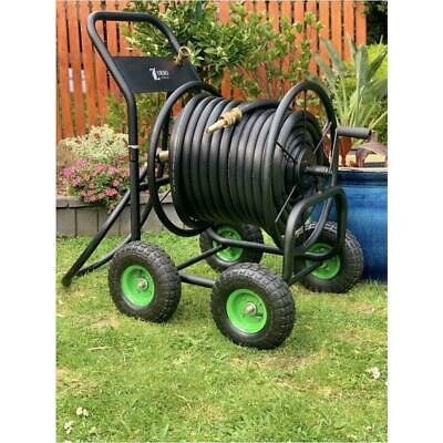 NEW HF 18mm Black Fire Hose with ZORRO Steel Cart Trolley & Set of Brass Fitting