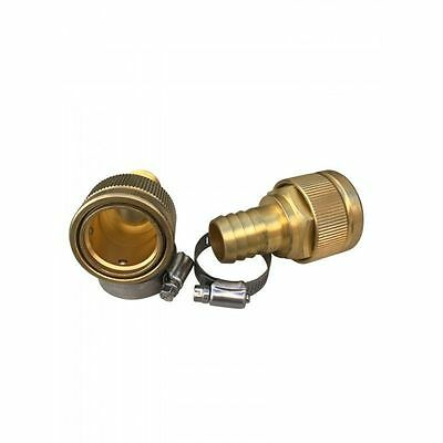 """NEW Brass 1"""" / 25mm Snap-on Quick Release Adaptor with Clamp (Qty:2)"""