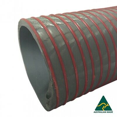 NEW Suction Airseeder Grey PVC Water Hose 100mm, Made in USA