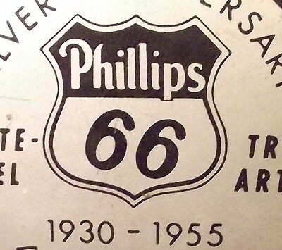 Phillips 66 Silver anniversary 1930-1955 classy paperweight, Chicago division