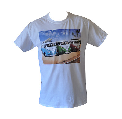 T Shirt Vw Kombi Mens White All Sizes S To 3Xl Free Post Surf Volkswagen Combi
