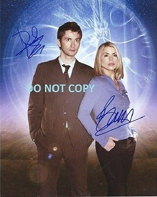Dr Who - Hand Signed Photo With Coa - Tennant And Piper Rare Autographed Photo
