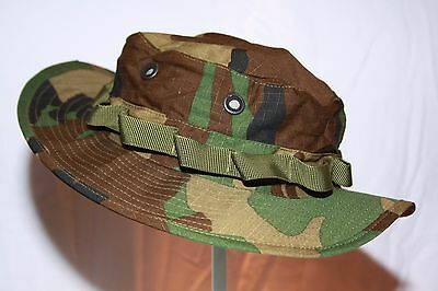 U.S Marine Woodland Camo Ripstop Boonie Hat/  Large