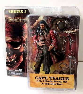 Pirates Of The Caribbean Capt. Teague Action Figure Captain Series 2 Neca Toys