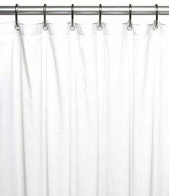 White 5 Gauge Vinyl Shower Curtain Liner Size Choice