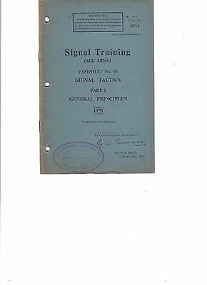 WW2 British Signal Training All Arms Pamphlet No.10 Pt.1 Sigs Tactics 1951 Pg.10