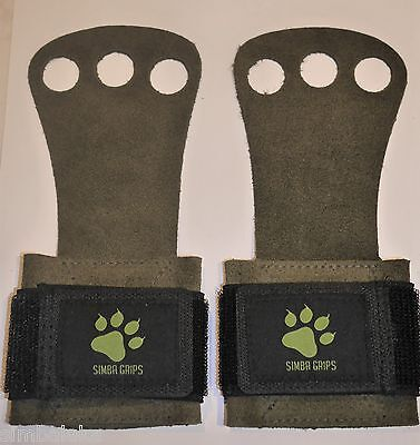 Simba Grips - Quality Crossfit Grips Gloves Cowhide Leather with Wrist Strap