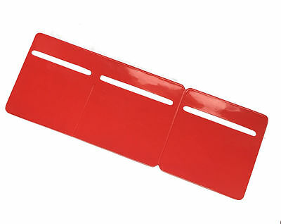New Car Van Road Tax, Insurance NCT Disc Holder Red - New Wallet Permit