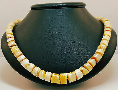 Necklace Natural Baltic Amber 28-30Grams White Butterscotch 54cm Stone 9-12mm 12