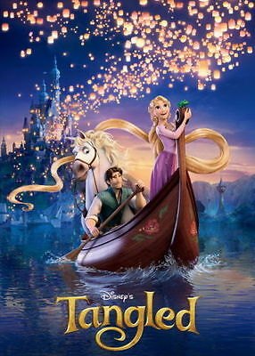 "0819 Tangled - 2010 Disney Hot Movie Film 24x36"" Print Art Silk Wall Poster"