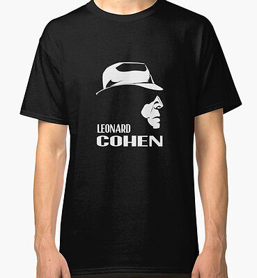 Leonard Cohen Men's Black Tees Tshirt S - 3XL