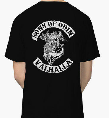 Sons Of Odin - Valhalla Chapter Men's Black Tees Tshirt S - 3XL