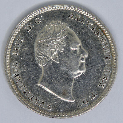 1836 William III Fourpence / Groat Great Britain Silver Coin