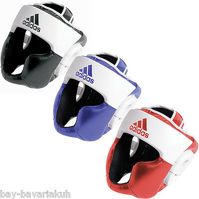 ADIDAS Response PU Leather GEL Head protection guards black red blue Boxes new