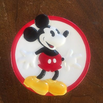 Vintage HAND PAINTED Mickey Mouse Disney AUTHENTIC Round Soap Dish, Trinket Dish